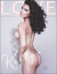 Kelly Brook topless on cover of Love magazine issue four -