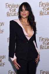 Michelle Rodriguez - Naomi Campbell's Fashion For Relief Charity Fashion Show In NYC (02/14/15)